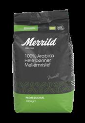 Merrild Økologisk/Bæredygtig Hele bønner 6x1000g