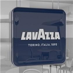 Lavazza indendørs skilt m. lys